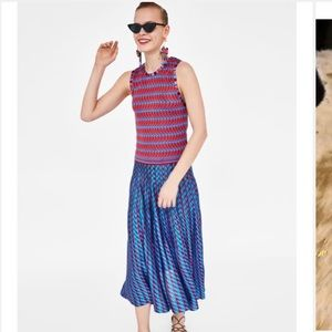 🆕 Zara Jacquard Knit Collection Skirt And Top